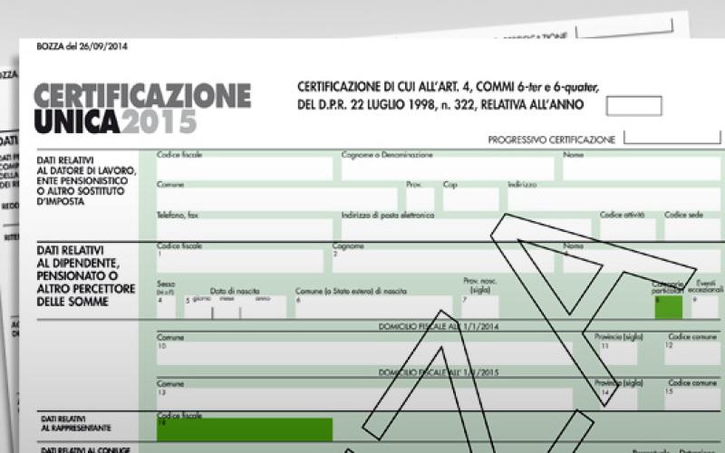 LA CERTIFICAZIONE UNICA 2015 (CU 2015) PER I REDDITI DELL'ANNO 2014