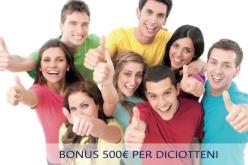 Bonus diciottenni: 500 euro per i nati nel 1998