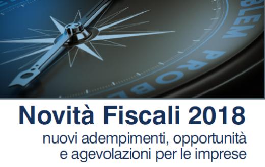 Seminario gratuito sulle NOVITA' FISCALI 2018 – giovedì 22 febbraio
