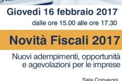 Novità Fiscali 16 febbraio 2017 – seminario gratuito