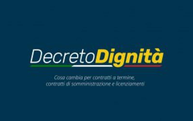 """DECRETO """"DIGNITÀ"""": MODIFICHE ALLA DISCIPLINA DEL CONTRATTO DI LAVORO A TEMPO DETERMINATO"""