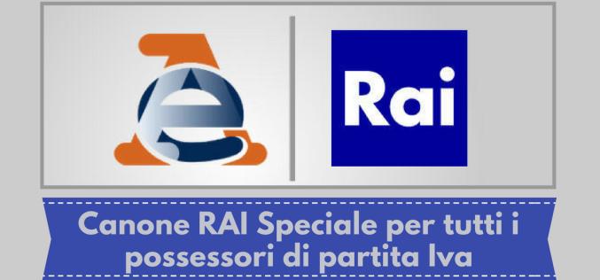 CANONE SPECIALE RAI: rinnovo entro il 31 gennaio 2019