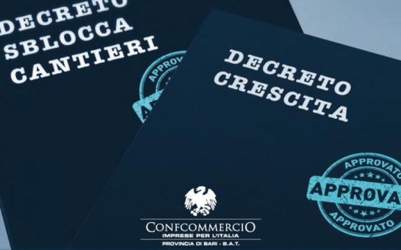 DECRETO CRESCITA e SBLOCCA CANTIERI: i risultati ottenuti da Confcommercio