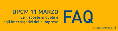 Banner FAQ DPCM 11 marzo 2020
