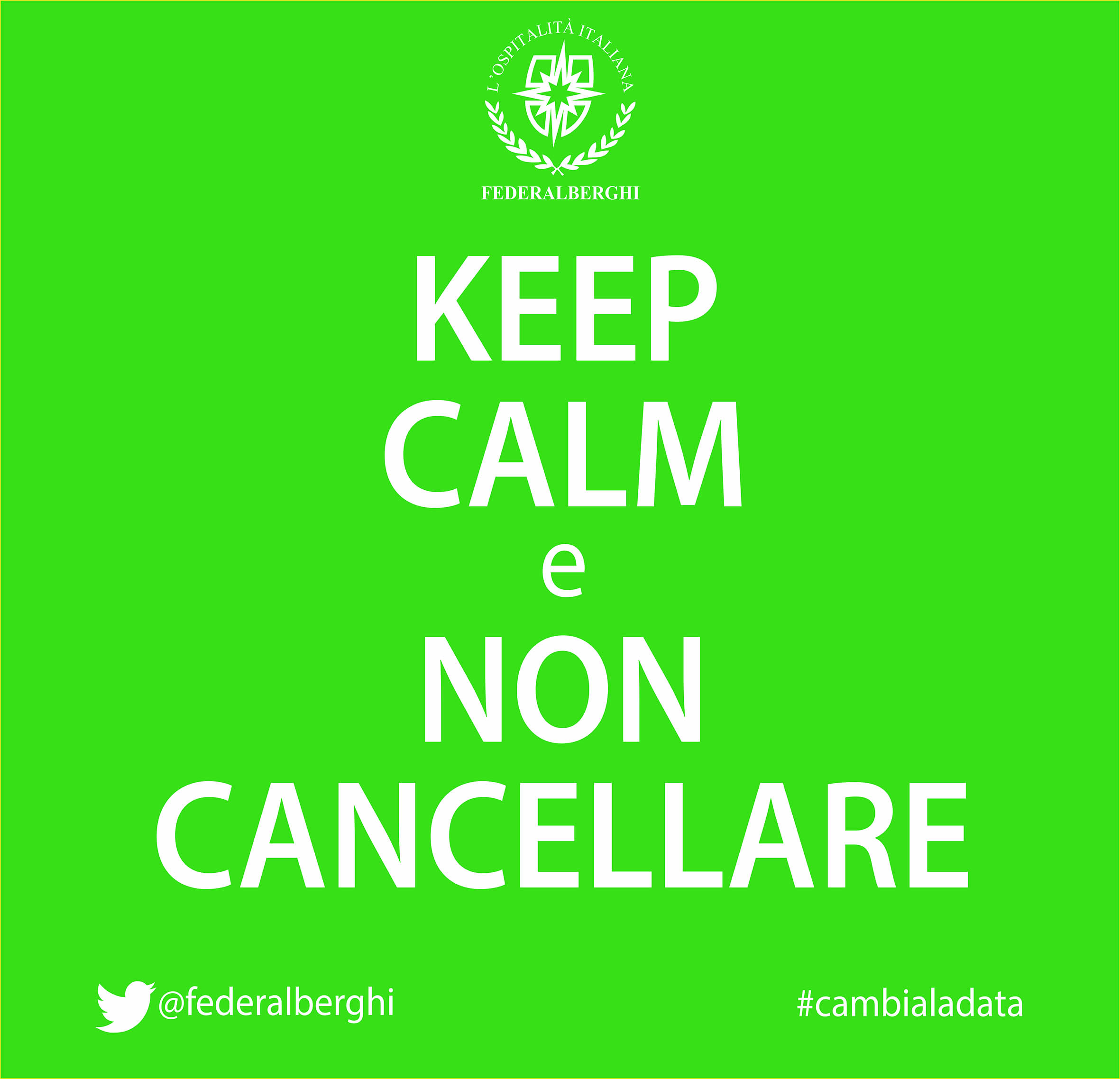 keep calm cambia la data verde it x