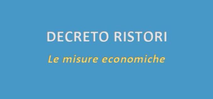DECRETO RISTORI – ECCO LE NOVITA'!